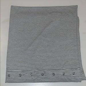 Gray and white striped lululemon scarf